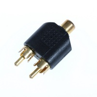 RCA AV Audio Y Splitter Plug Adapter 1 Female to 2 Male