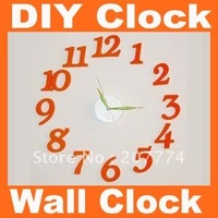 Fashion alarm DIY clock, mute electronic decorative wall quartz clocks Free Shipping