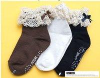 3 colors 30 pairs/lot Baby socks kids lace socks/Girl's Flower socks