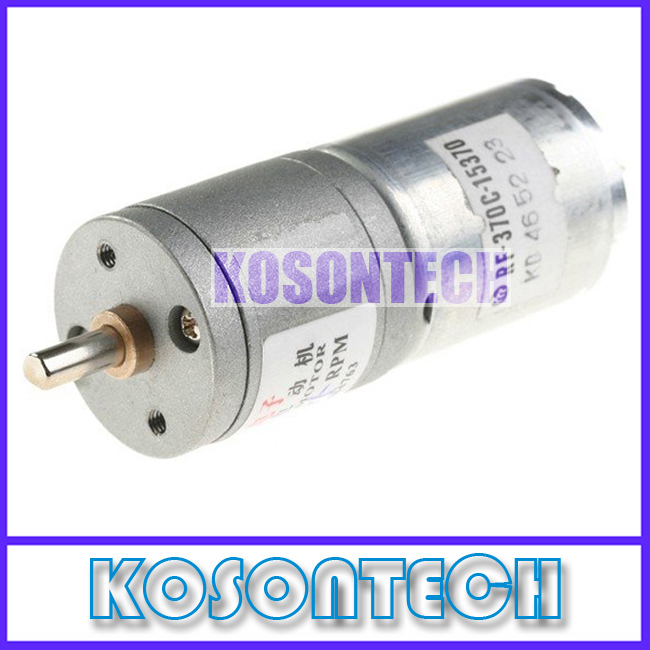 FREE SHIPPING - 25mm 12V 15RPM High Torque Electric Geared Box DC Micro Motor MM-25MM15RPM(China (Mainland))