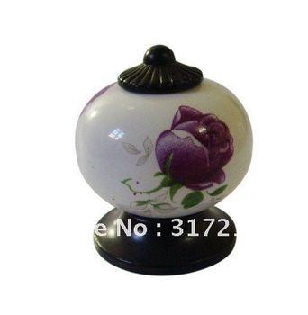 Black zinc ceramic door handle cabinet knobs  Furniture Hardware accesories 20pc per lot Wholesale & retail Shipping discount
