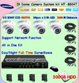 HT-8804T cctv dome camera, 4CH Mobile monitoring security system