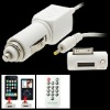 Car audio FM transmitter with Remote control and car charger for iPhone/iPod/itouch