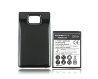 DHL free   shipping 100pcs/lot New 3500mAh Extended Battery + Back Cover Door For Samsung i9100 Galaxy S2 II