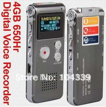 Free shipping 4GB Digital Voice Audio Telephone Recorder MP3 Player