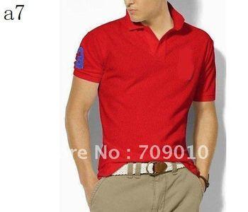 free shipping mix order Men short sleeve shirt cotton T-shirt -polo shirt  10 pic/lot