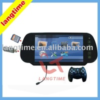 H738MD - 7 inch car rearview monitor with USB,SD reader,games and bluetooth