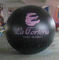Hot 6.5FT/2m Diameter Black Advertising Helium Balloon with Your Logo for Promotion /FREE Shipping