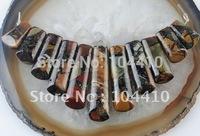 11Pcs Multi Color Picasso Jasper Pyrite Stone Jewelry Pendant Beads Sets Wholesale