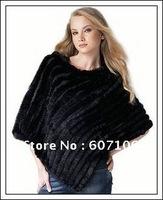 CPA FREE SHIPPING*Genuine Rabbit fur poncho/shawl/jacket/Coats*wholesale&retail