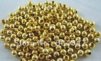 Free Shipping! 800pcs/lot gold plated round spacer beads 2.4mm Findings