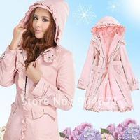 Elegant and four thick coat dust coat coat the plush activities