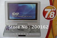 "In Car 7.8"" Portable DVD Player TV MP3 MP4 SD USB Game  DHL.EMS.FedEx"