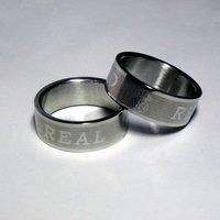 Real Madrid stainless steel ring/ ring laser engraving