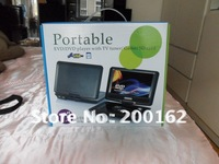 "7.5"" inch Portable DVD player w/ LCD screen TV tuner   DHL.EMS.FedEx"