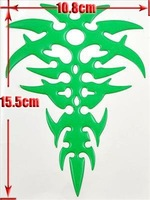 Wholesale 5Pair Green Crystal Flame Decal Motorcycle Car Sticker Free Shipment