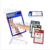 20pcs/lot ultrathin 12 digital solar transparent Calculator