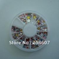 Freeshipping Nail Art Nail Decoration Glitter Sticker/Decal Imitation Rhinestones  10wheels/lot For DIY Design + Wheel