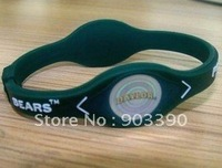 Hot selling gifts! Baylor University Bears/silicone energy bracelet/Sports bracelet 100pcs/lot free shipping by DHL