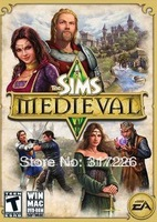 Freeshipping Wholesale pc game The Sims Medieval Multi-language pc games 2010, not online