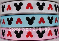 "7/8"" Minnie Mouse heads MICKEY GROSGRAIN RIBBON 3 Colors U Pick"