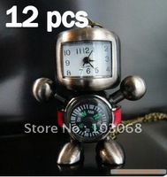 New Style Lovely Fashion Jewellery Classic Retro Robot Necklace Compass Watch Wholesale Lots OF 12 XMAS GIFT