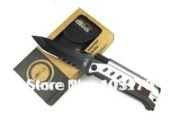 2011 New Arrival 3 in 1 Multi-function Survival Knife+LED Flashlight+ Flint Magnesium Striker Fire Starter Camping Knife