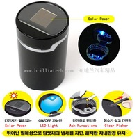 Brilliatech High Quality Solar Ashtray LED Ashtray for car and home use