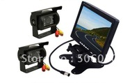 "Car Rear View Kit 7"" LCD Monitor+2X IR Reversing Camera FREE 10M RAC TO RCA CABLE"