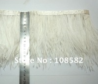 WHITE 10-12CM SINGLE-DECK OSTRICH FEATHER ACCESSOR FEATHER LACE