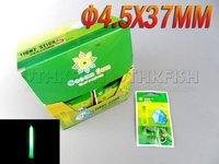 Free EMS! 500 sticks Lot  (1BOX=50Bags=250Pcs) Dia:4.5X37mm Fishing Lighting Stick Wand Green Colour Glow Stick