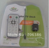 freeshipping wholesale digital stick usb2.0 dvb-t stick  on pc or laptop