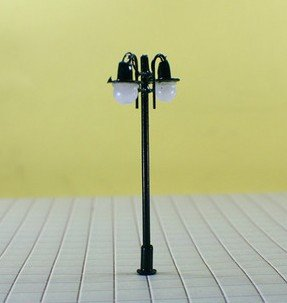 200pcs hot sale HO scale mdoel lamp 1/100, copper lamppost for train layout