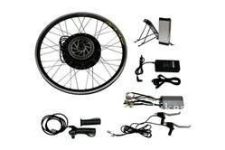"48V 1000W front hub motor electric bike conversion kit 26"" wheel with 48v 20ah lithium battery pack"