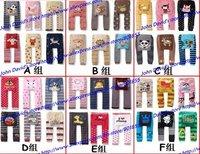 36pc/lot Wholesales PP pants baby cotton leggings Cartoon pantyhose leggings Sweet kids Leggings toddler Free shipping (3 size)