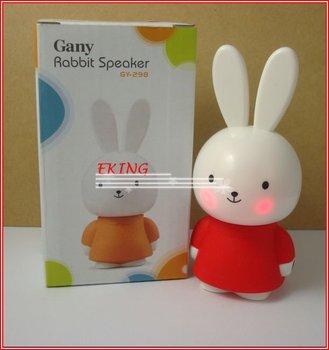 Wholesale DHL Freeshipping Portable Mini Speaker for iPhone/iPod/Laptop/PC/MP3/MP4 Lovely Rabbit Mini USB Speaker
