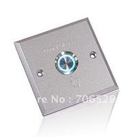 Night Luminous Aluminum panel Sandblast Finished Exit Push Button suitable for hollow door