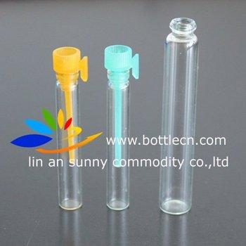 3000pcs/lot 10*46mm 1.5ml clear perfume sample bottle
