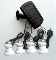 Free Shipping (6Pcs)Saving Energy Green Product Solar LED Courtyard Light(SL-01A)