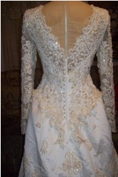 """NEW SEQUIN BEADED Wedding Gown vtg 50s Dress """"GORGEOUS TAKE A LOOK 1 OF A KIND"""