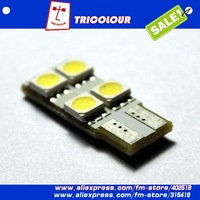 20pcs/lot T10 W5W 194 4 5050 SMD LED High Power Bright Car Interior Wedge Dome Side Light Bulb Lamp white blue red #D09013