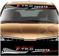 Free Shipping Hot Sale TOYOTA Vinyl Car Windshield Windscreen Sticker Car Decal Window LOGO Graphic