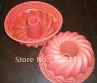 wholsale!! Free shipping!! 1pcs Big Flower Pot Green Good Quality 100% Food Grade Silicone Cake Cupcake Pan DIY mould