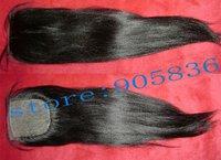 "silk top  black light yaki  virgin brazilian human  hair  extension 3.5""*4"""