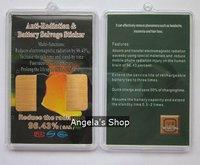 24k energy saving anti radiation phone sticker,mobile chip shield 50pcs/lot