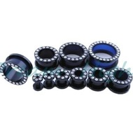 Fashion Ear Plugs Best Flesh Tunnel Ear Piercing Types Black Acrylic Ear Expander Body Jewelry Newest 10sizes 50pcs/lot