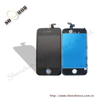 mix style white or black color 10pcs/lot for iphone 4g lcd screen display with touch screen assembly free shipping by dhl