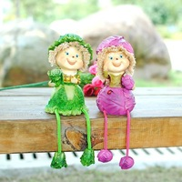 MOQ:1 pair! Free shipping handcraft painted resin table ornament one pair of vegetable moppets