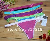 Wholesale - ,12 pcs/lot- 3 colour cotton pure fashional women panties,sexy T-shaped pants, 1-068