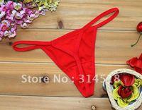Promotion Wholesale 12 pcs/lot- red colour cotton women panties,sexy T-shaped pants, 1-228